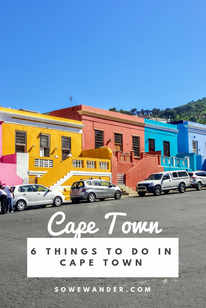 6 Things to do in Cape Town pinterest